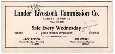Auction ticket