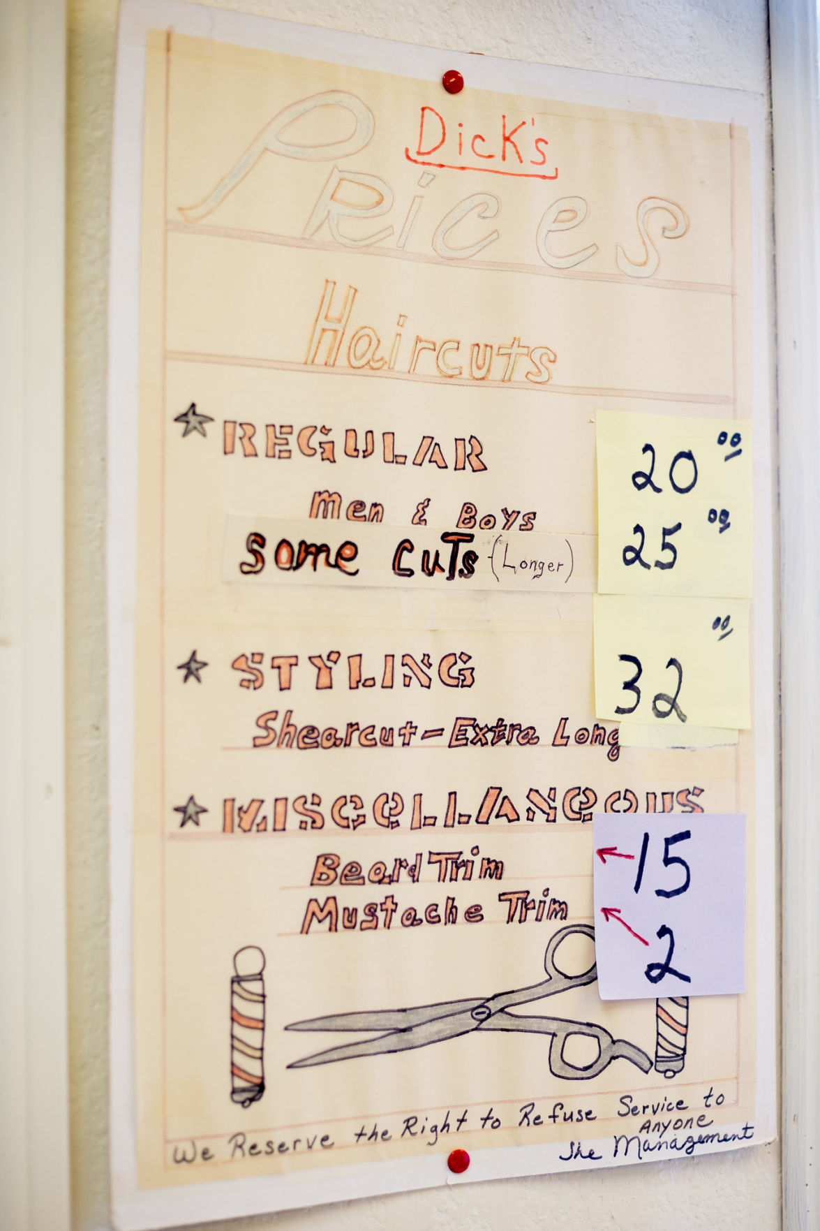 Dick's Hair Lair prices