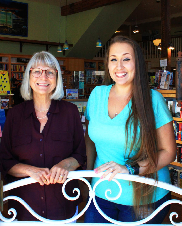 Beach Books owner Karen Emmerling with manager Alexa Butler.jpg