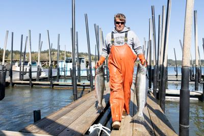 Lake unloads two Chinook salmon