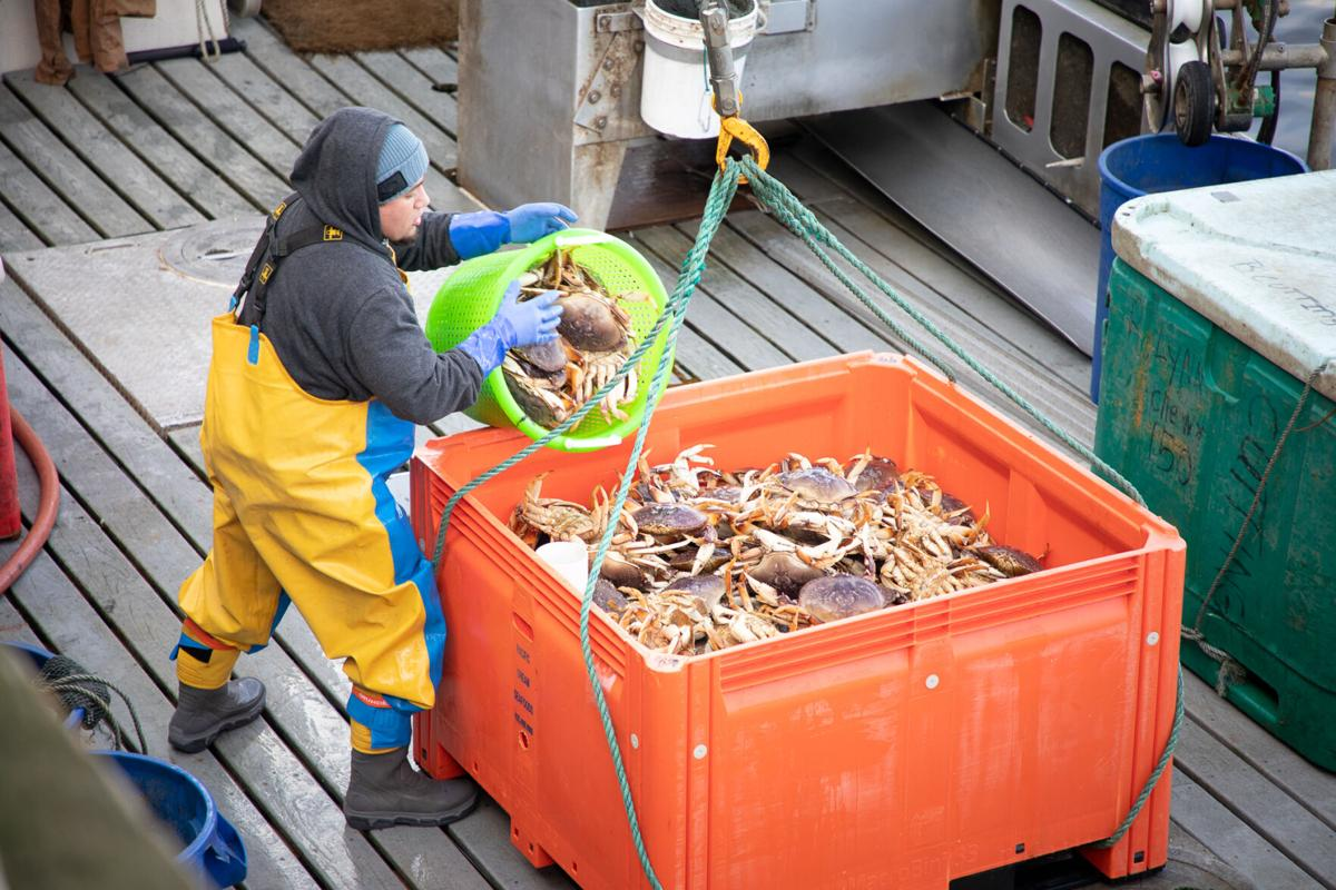 Offloading crab