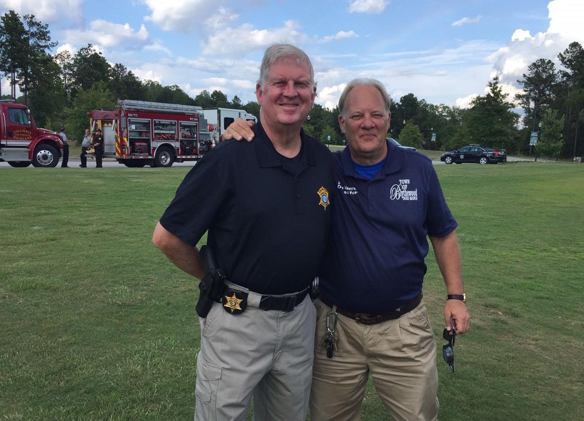 Richland Co. Sheriff's Dept. Capt. Harry Stubblefield and Steve Hasterok, director of the conference center and events for Doko Park