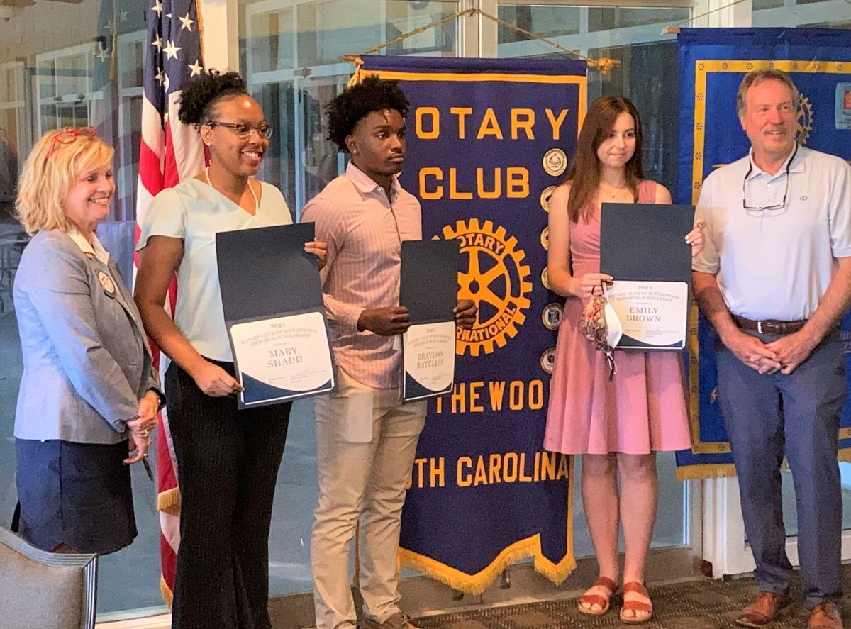 Blythewood students receiving Rotary scholarships.jpg