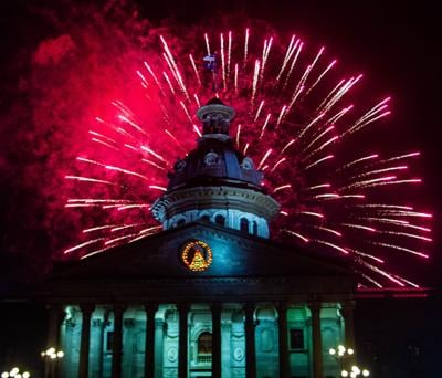 state house fireworks