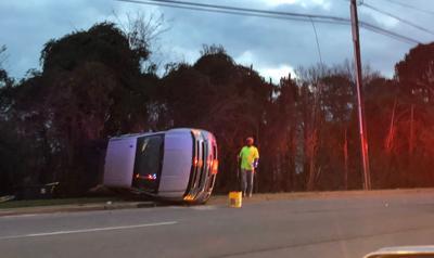 overturned truck sunset blvd