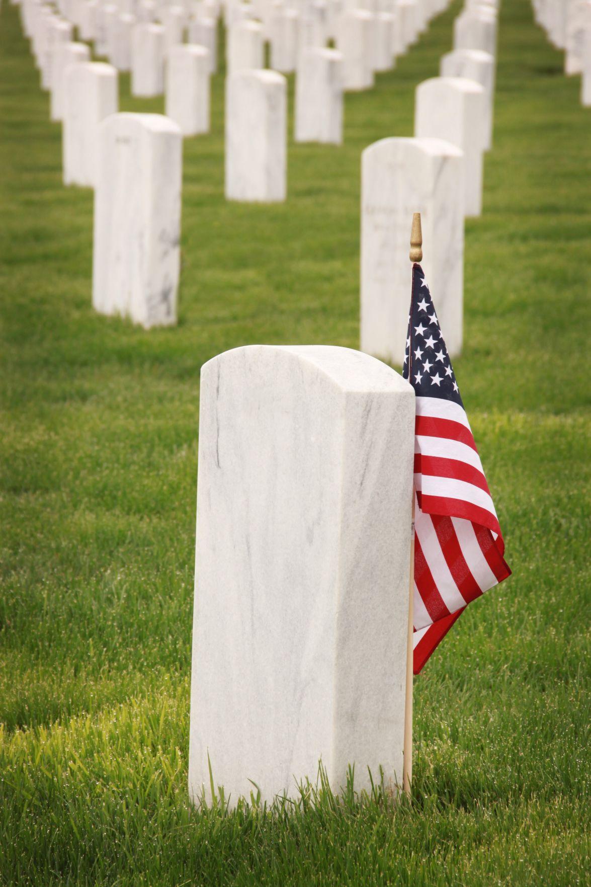 flag grave stone