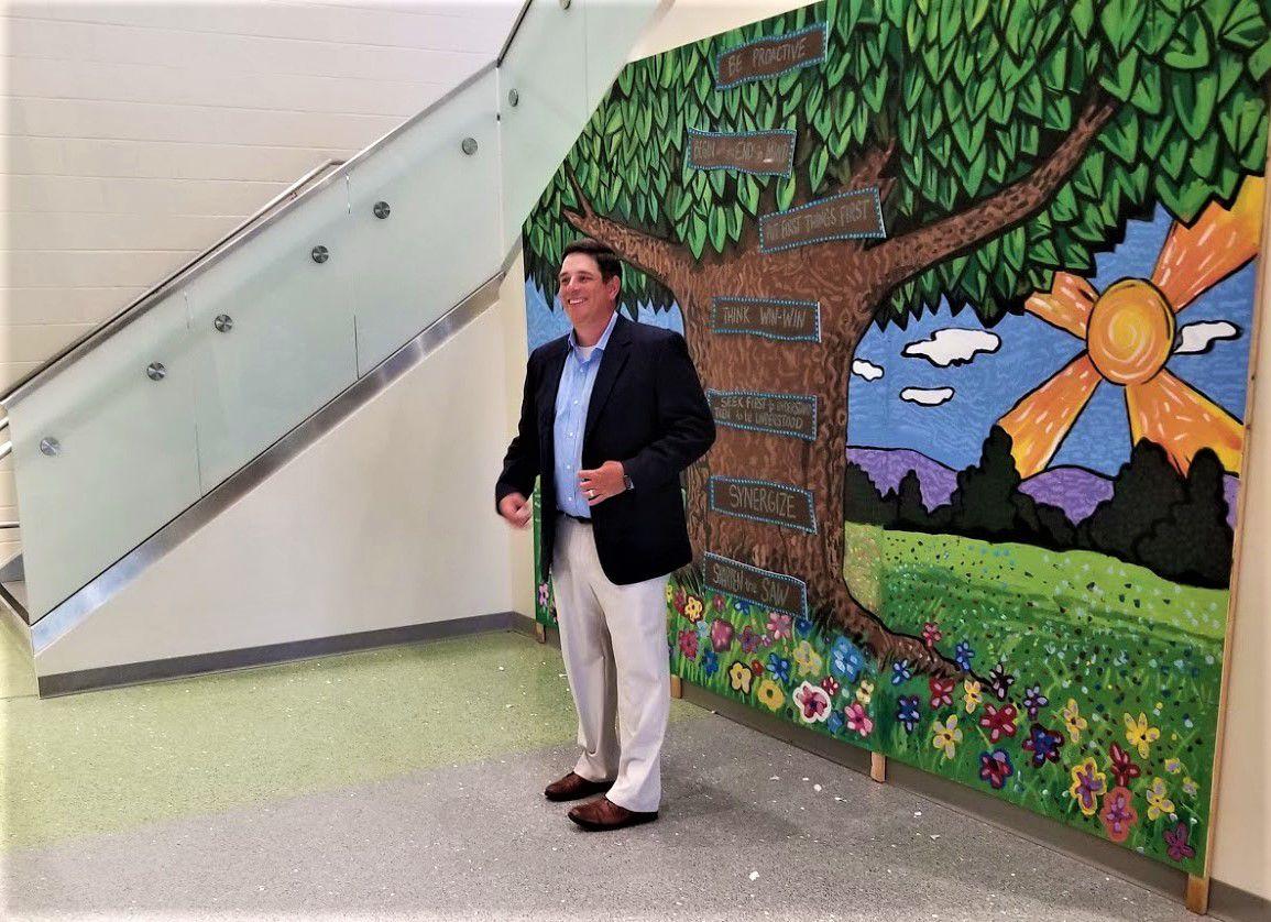 Chuck Underhill, House of Raeford, mural sponsor