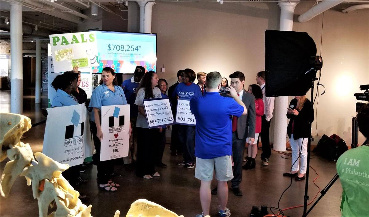 Midlands Gives groups at S.C. State Museum.
