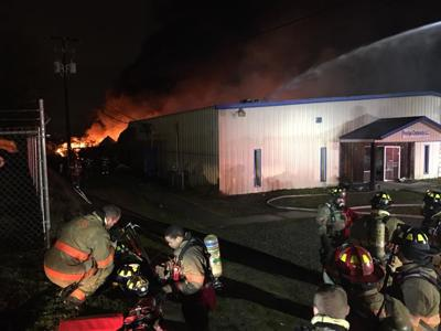 Large fire raging in Lexington, Monday morning