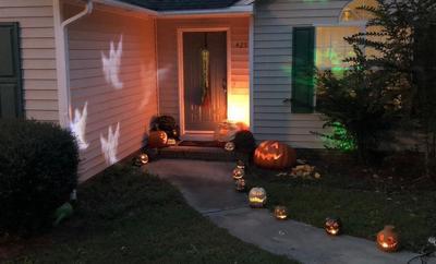 halloween fall yard
