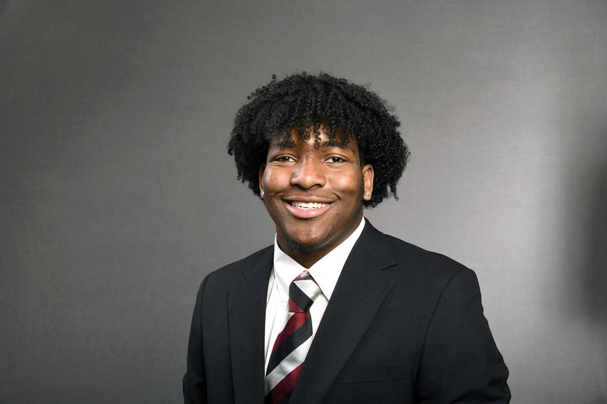 Kingley Enagbare, junior defensive lineman.jpg
