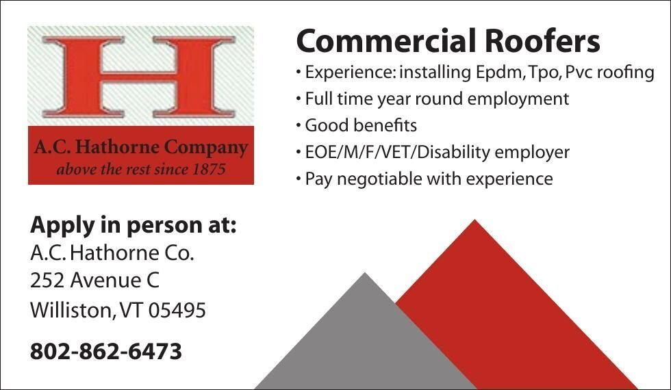 Commercial Roofers Wanted