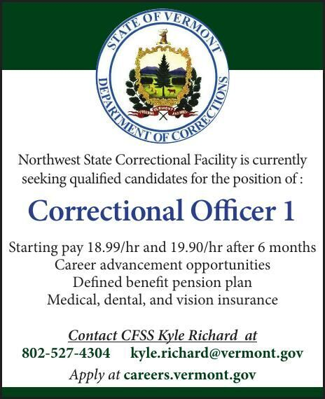 Northwest State Correctional Facility is Hiring!