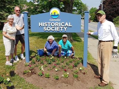 Historical Society gardening volunteers