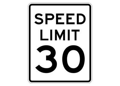30 mph speed limit