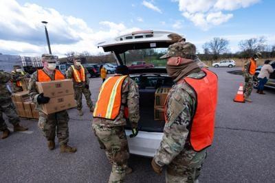 National Guard food boxes