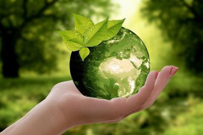 Green earth stock img
