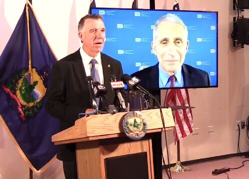 Phil Scott and Anthony Fauci, 9-15-2020