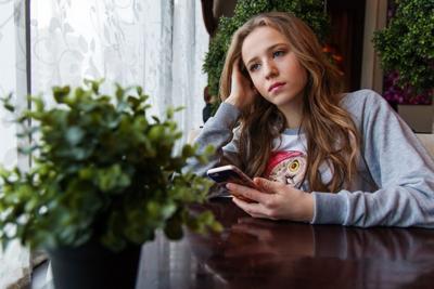 Generic sad teen