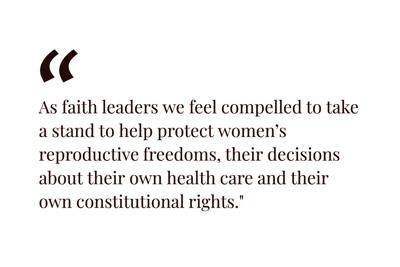LTE: 20 religious leaders stand with Vermont's women