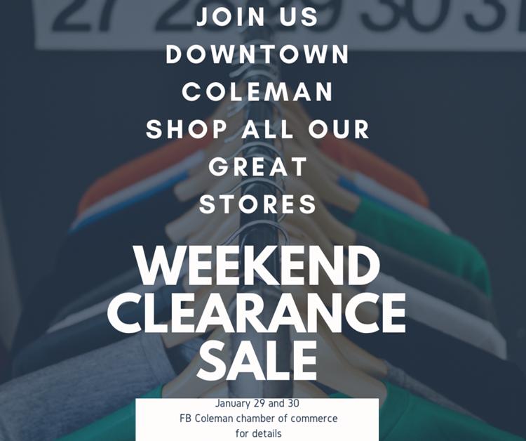 weekend clearance sale