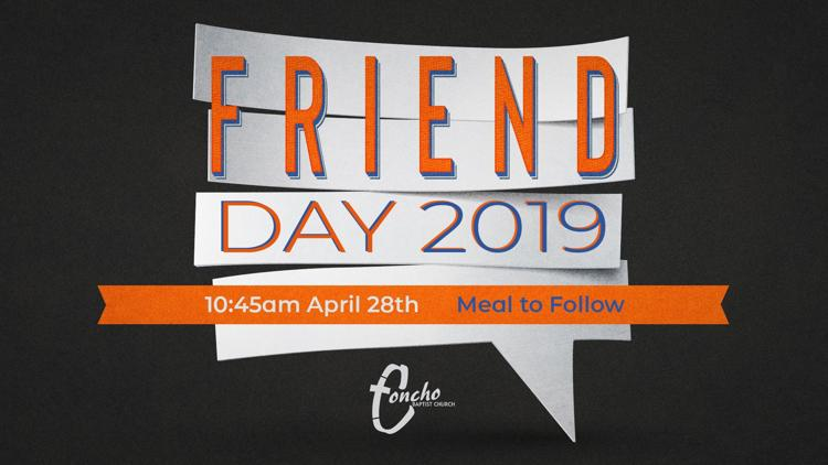 Friend Day Concho Baptist