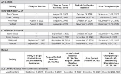 UIL Calendar