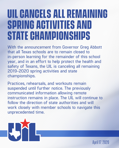 UIL Cancels