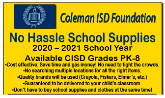 CISD Foundation Supplies