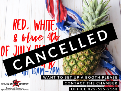 JULY 4TH CANCELLED