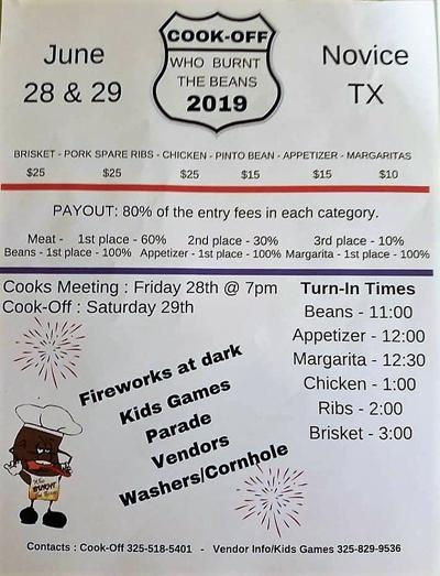 Novice Cook-Off and Fireworks