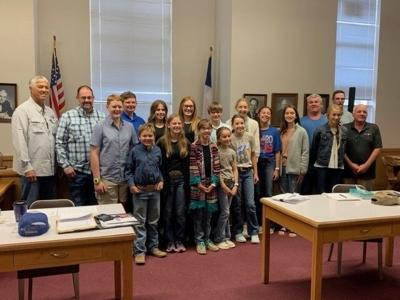 4-H at Coleman County Commissioners Court