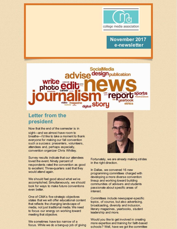 November 2017 E-Newsletter