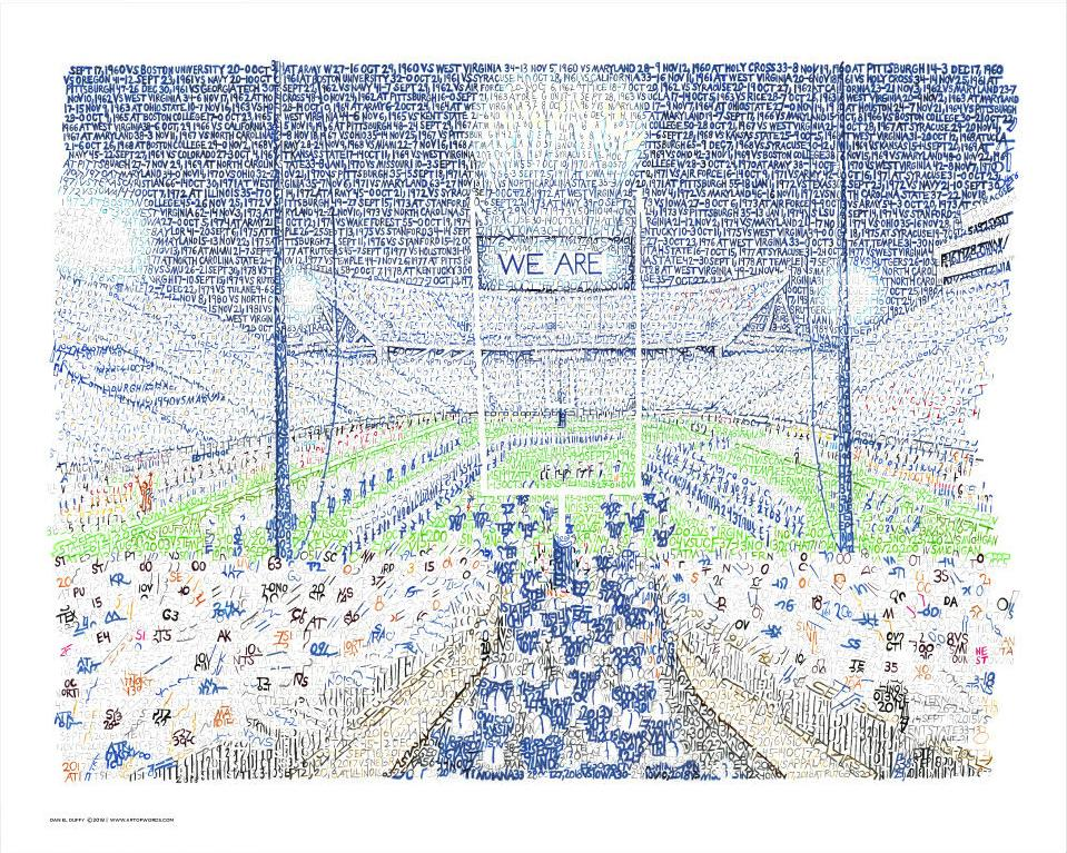 Beaver Stadium Word Art