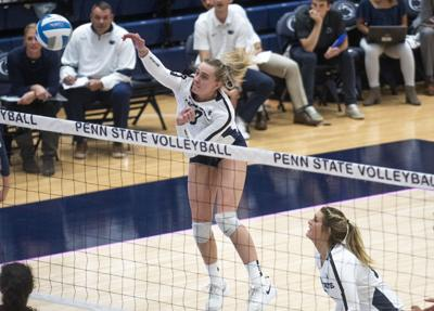 Women's Volleyball vs. Iowa, Parker (9)