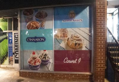 Cinnabon, Auntie Anne's, and Carvel Sign