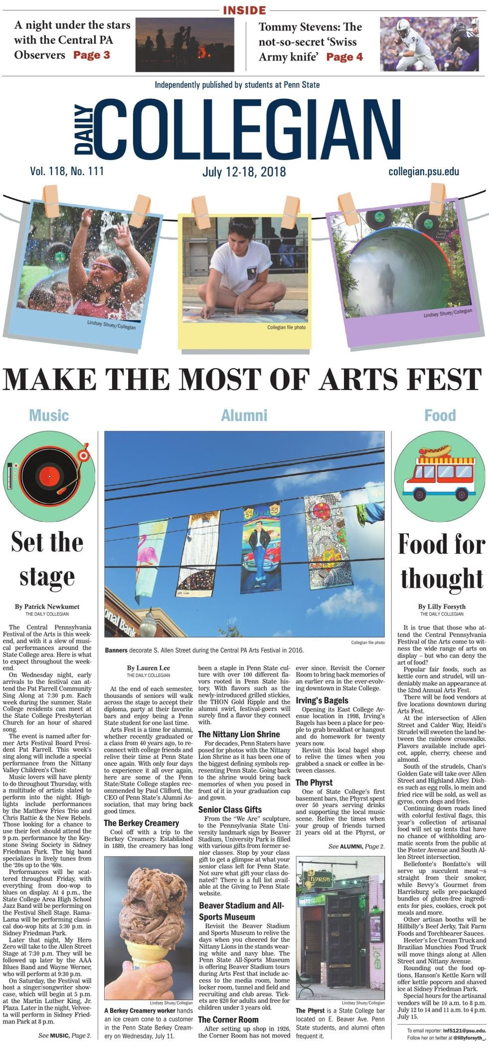The Daily Collegian for July 12, 2018