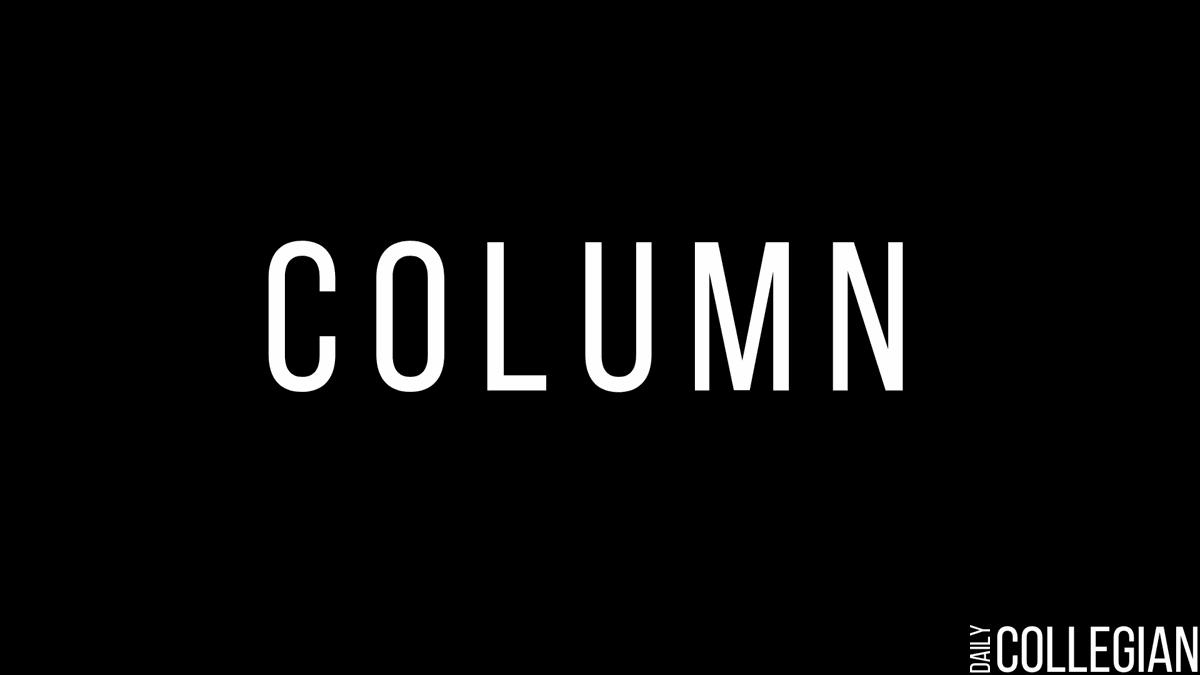 Black and white general Collegian column graphic