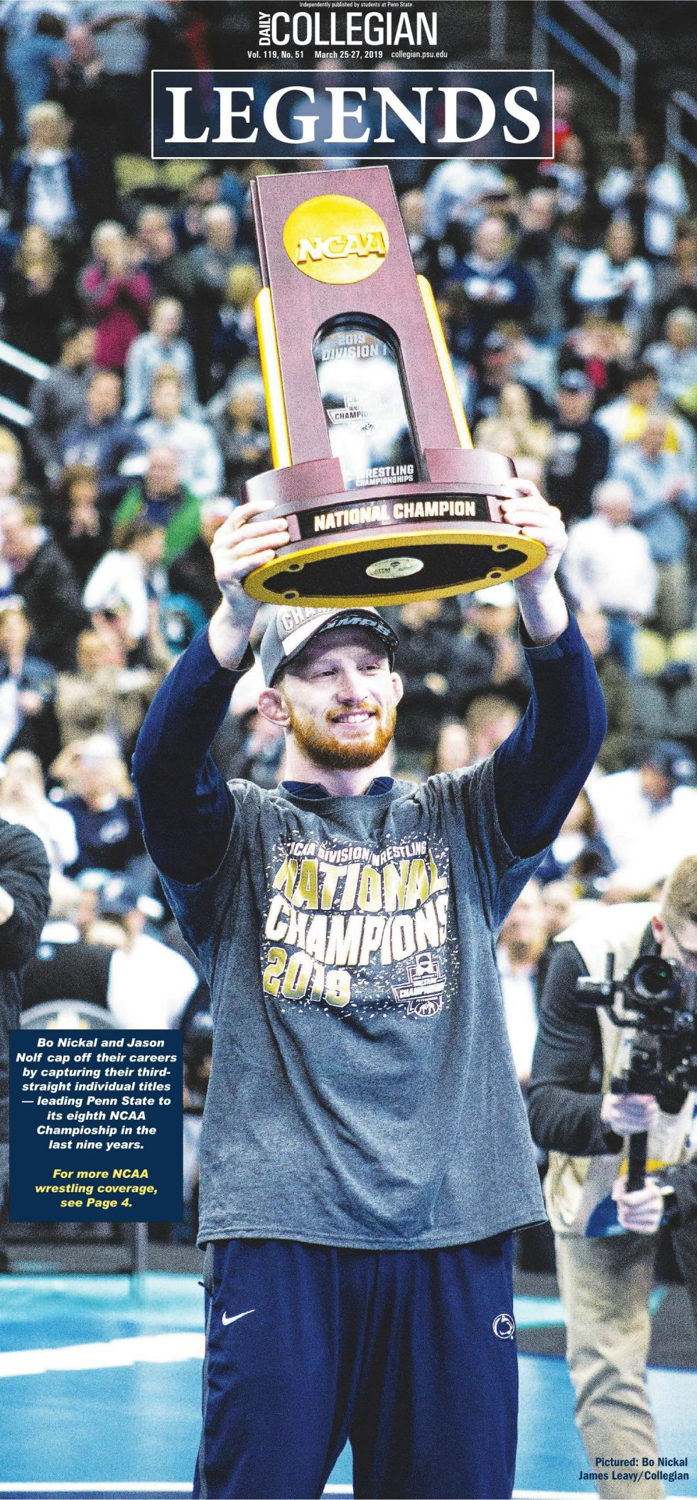 The Daily Collegian for March 25, 2019