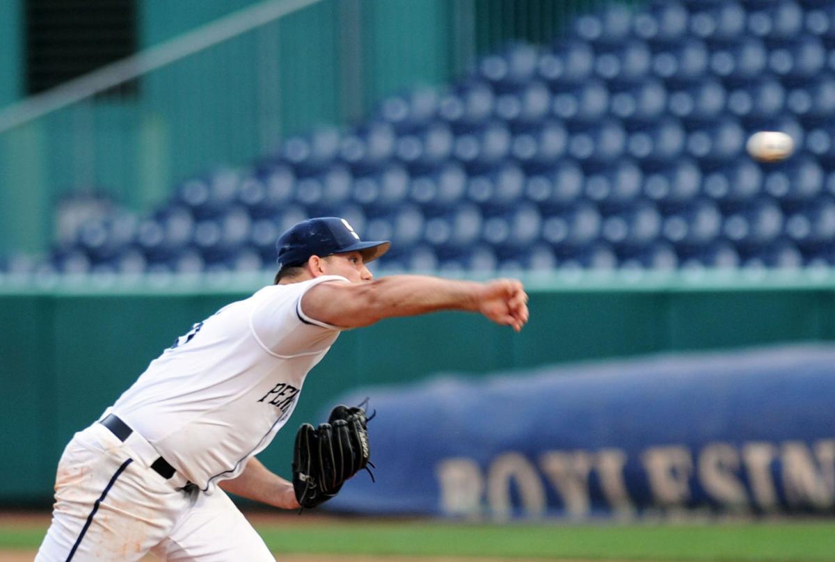 Sal Biasi (6) makes a pitch