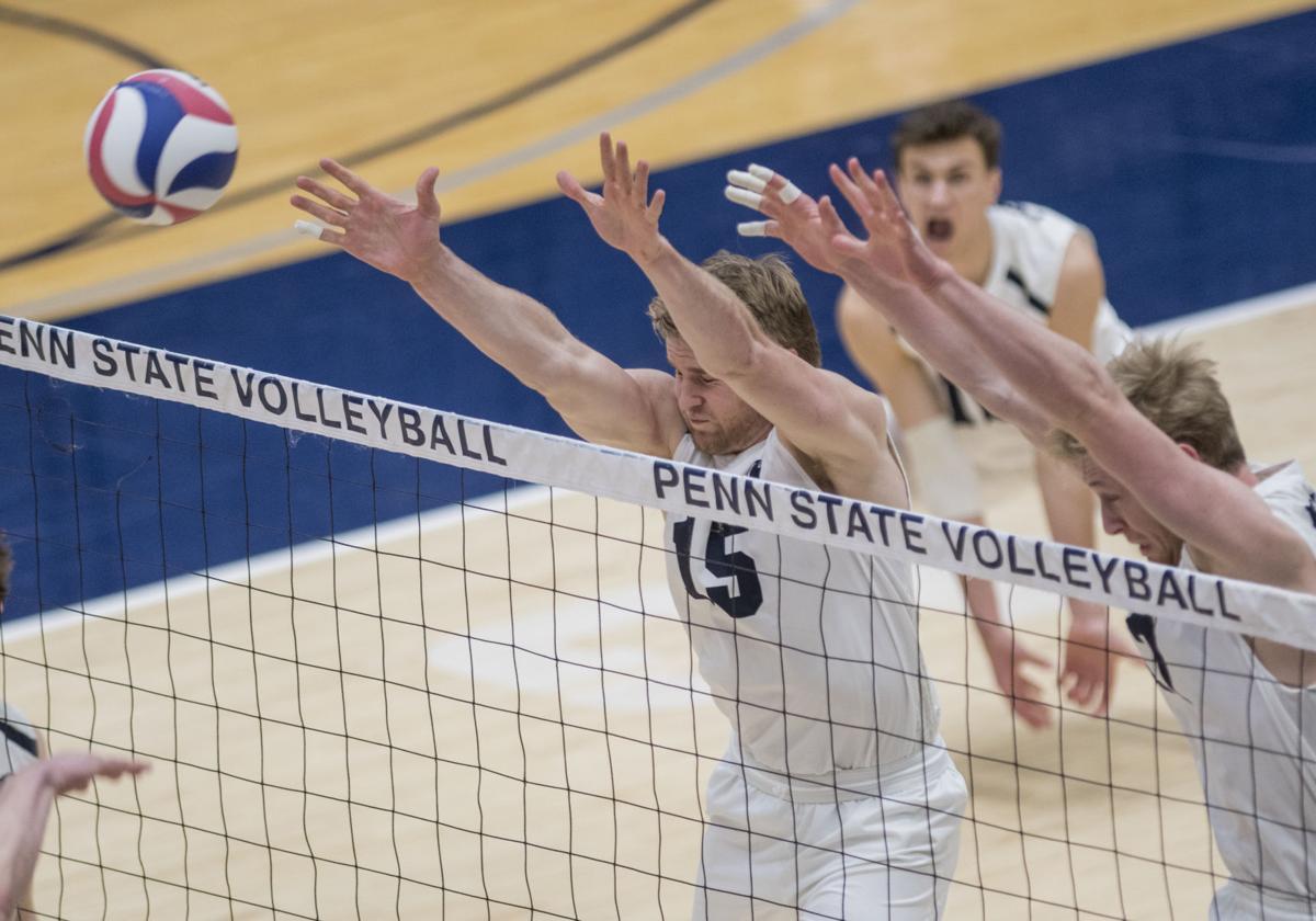 Men's Volleyball vs. Ohio State, Tuman (15) and Falck Lauten (17)