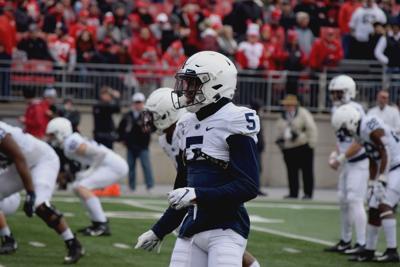 Penn State football Jahan Dotson (5), Ohio State warmups