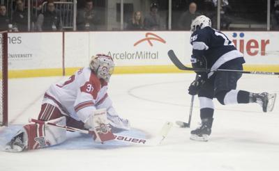 Big Ten Men's Ice Hockey Tournament Semifinals vs. Ohio State, Folkes (26)