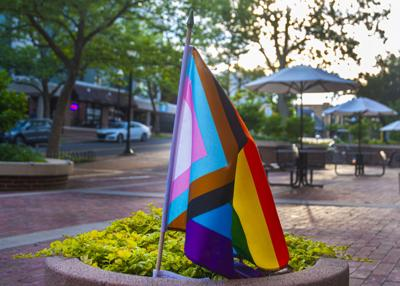 Pride Flag outside State College Municipal Building