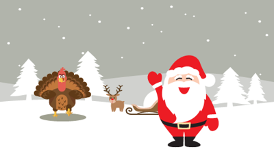 Santa, Turkey graphic