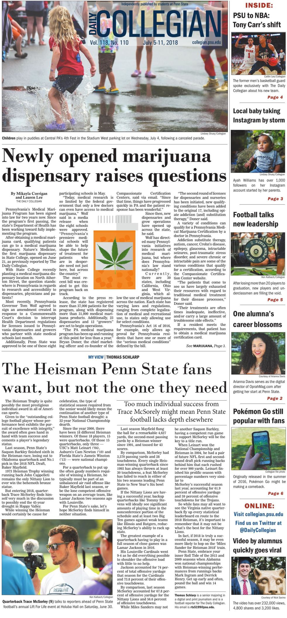 The Daily Collegian for July 5, 2018