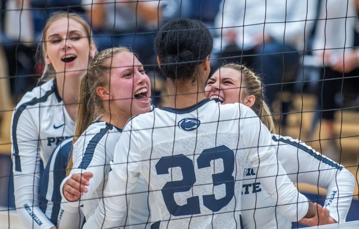 Penn State women's volleyball vs Stanford, Penn State celebrates point