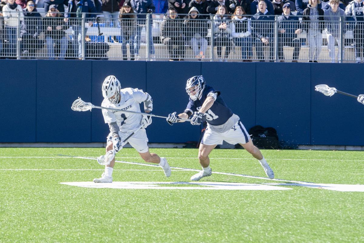 Penn State Men's Lacross Vs Yale, Ament (1) Holds Ball