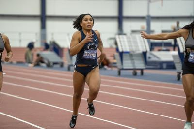 Penn State National Open Day 1, Williams runs the 60m Sprint