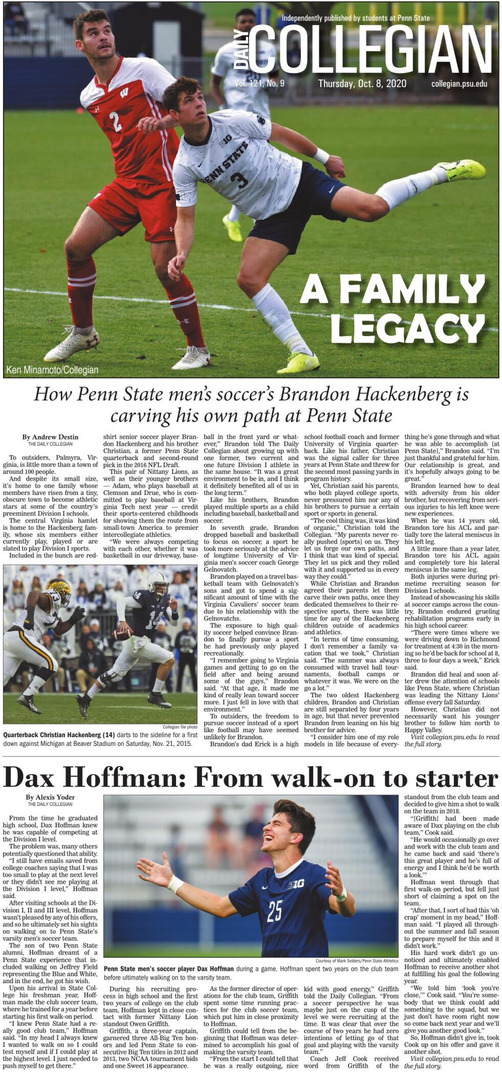 The Daily Collegian for Oct. 8, 2020